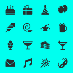 Birthday Celebrations Party Icons