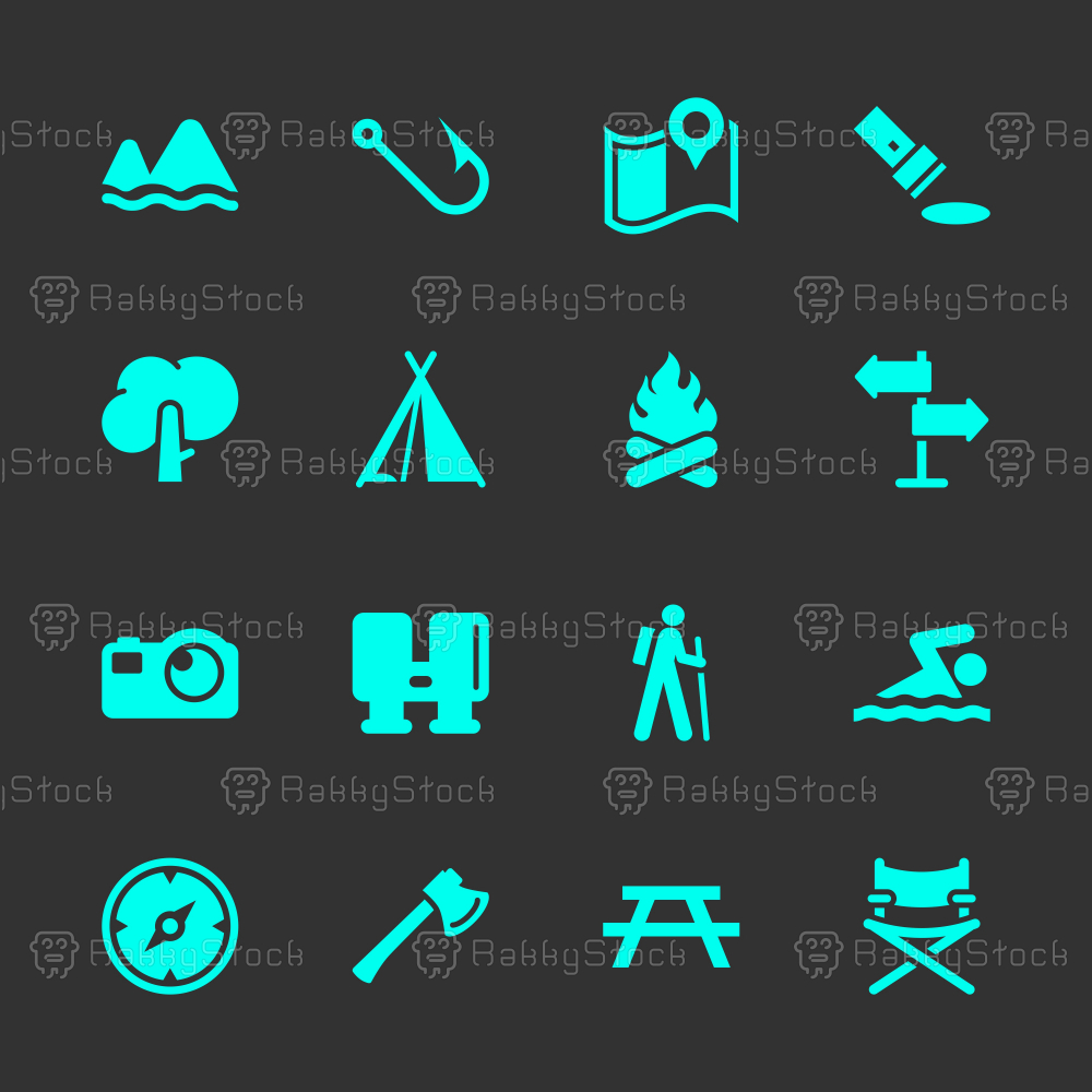 Camping and Outdoors Icons