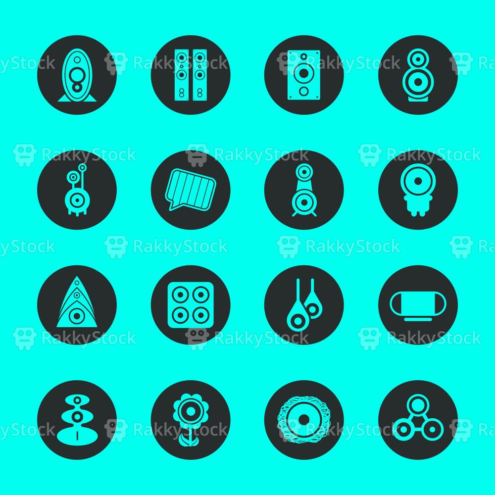 Loudspeaker Design Icons - Black Circle Series