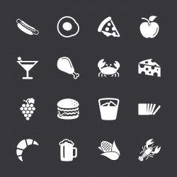 Food and Drink Icons Set 1 - White Series | EPS10