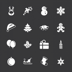 Christmas Icons - White Series | EPS10
