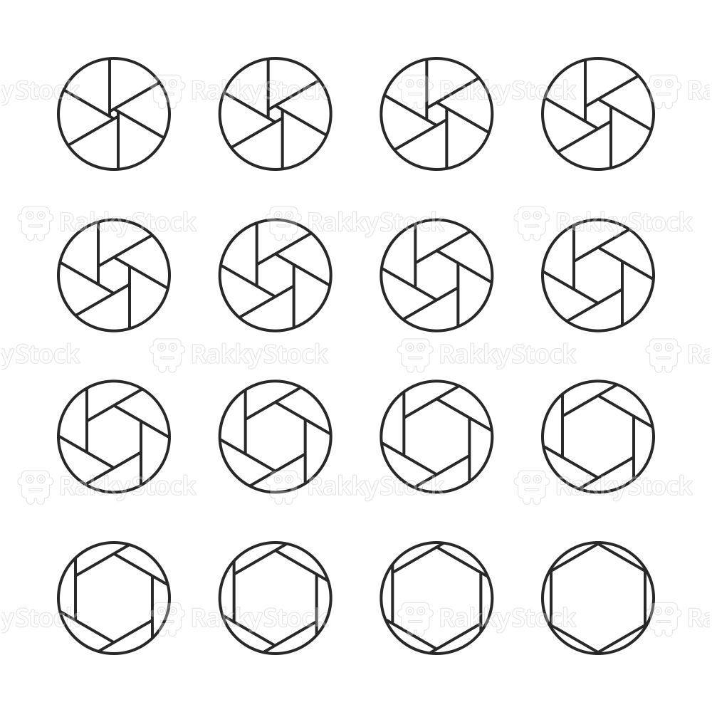 Shutter Icons - Line Series