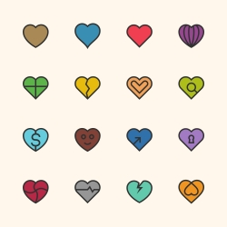 Heart Icon - Outline Series