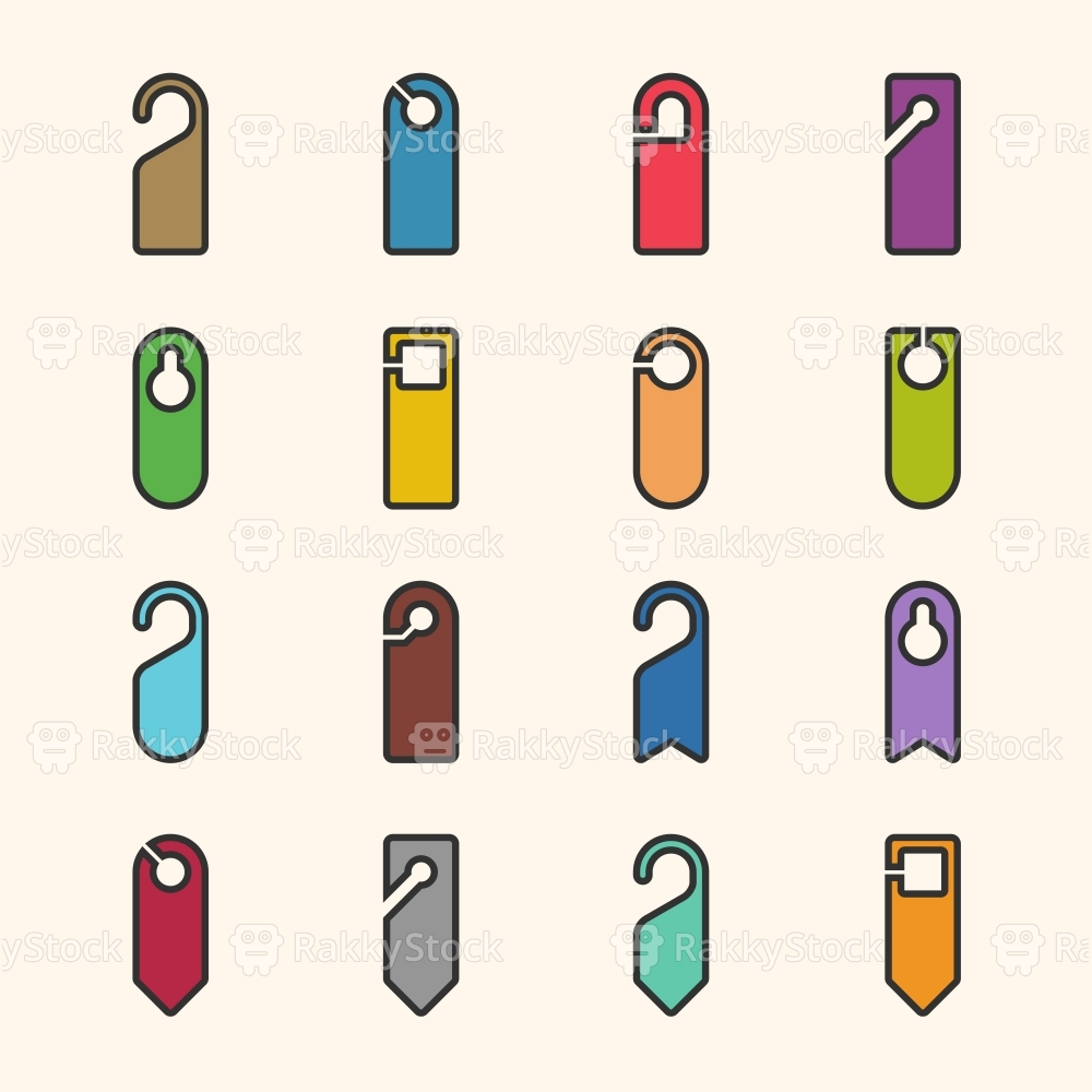 Door Hanger Sign Icon - Outline Series