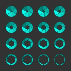 Shutter Icons - Outline Series