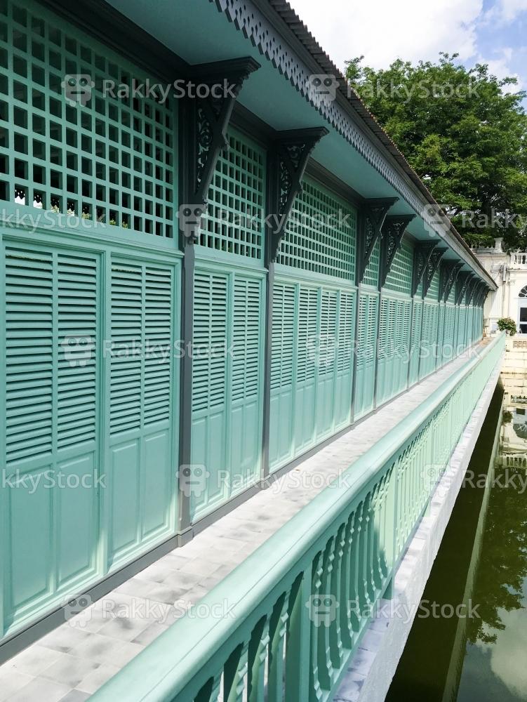 Corridor Of Bang Pa In Royal Palace, Thailand