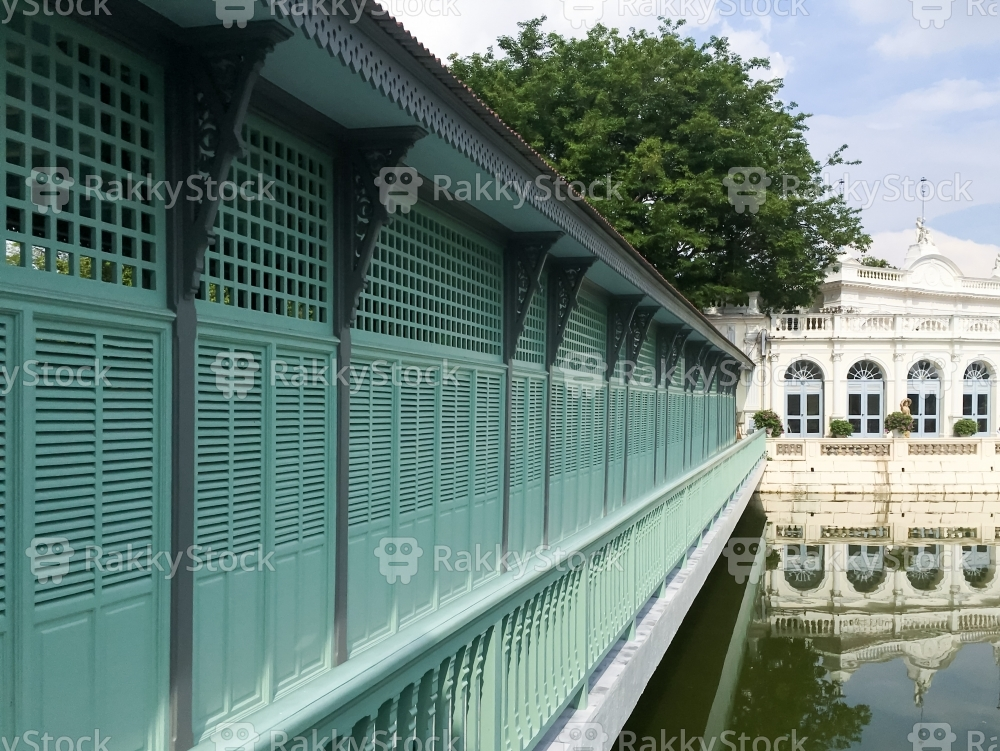 Corridor Of Bang Pa In Royal Palace, Thailand