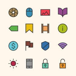 Basic Icon Set 3 - Outline Series