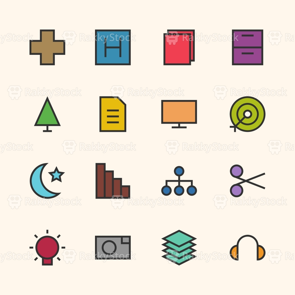 Basic Icon Set 4 - Outline Series