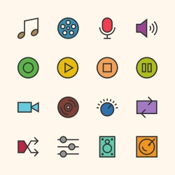 Basic Icon Set 5 - Outline Series