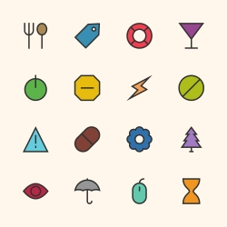 Basic Icon Set 7 - Outline Series