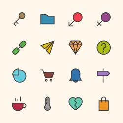 Basic Icon Set 8 - Outline Series