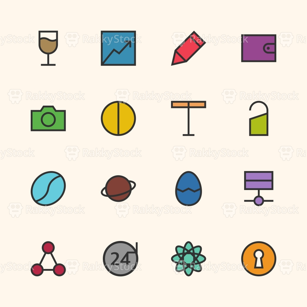 Basic Icon Set 10 - Outline Series