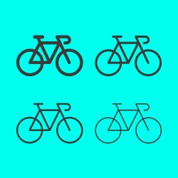 Bicycle Line Icon