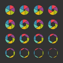 Shutter Icons - Color Series