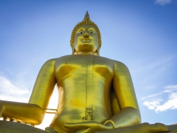Sitting Golden Buddha, Thailand