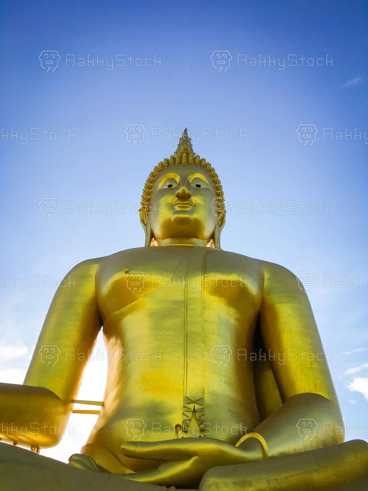 Golden Buddha at Wat Muang, Thailand