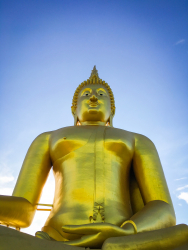 Golden Buddha at Wat Muang, Thailand