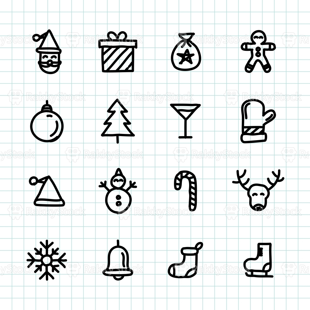 Christmas Holiday Icon - Hand Drawn Series