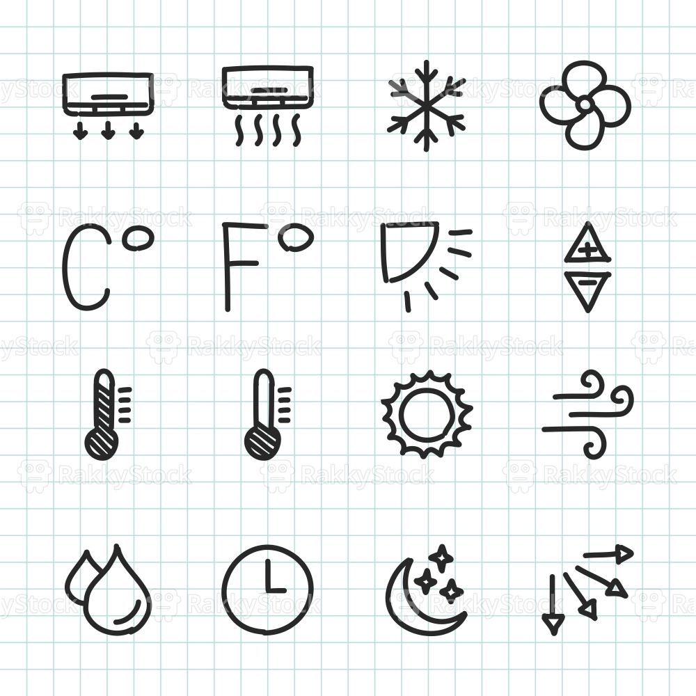 Air Condition Icon - Hand Drawn Series