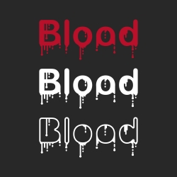 Blood - Typography Series