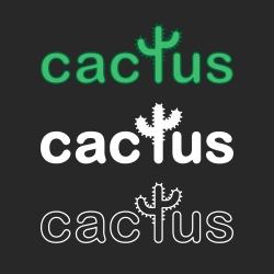 Cactus - Typography Series