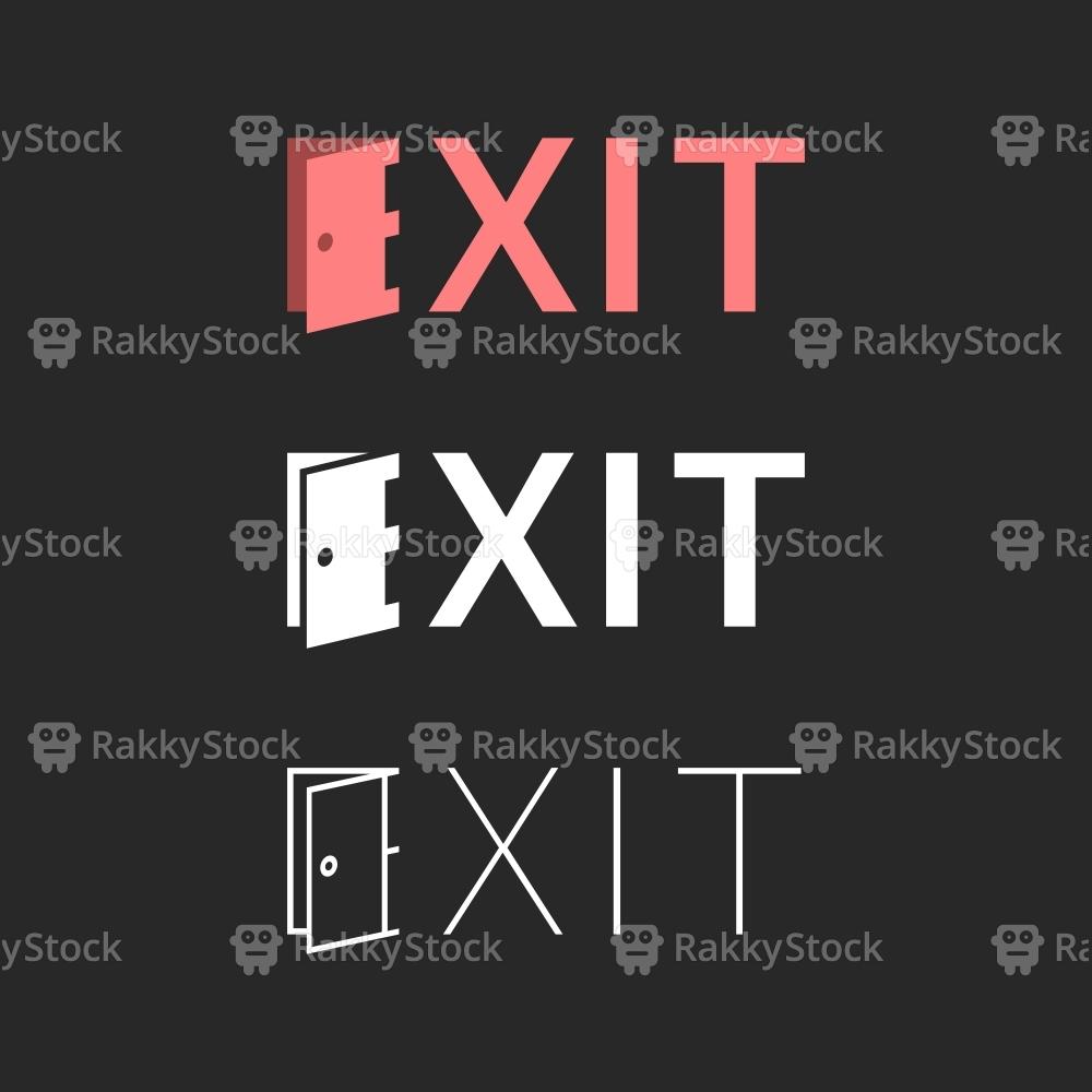 Exit - Typography Series
