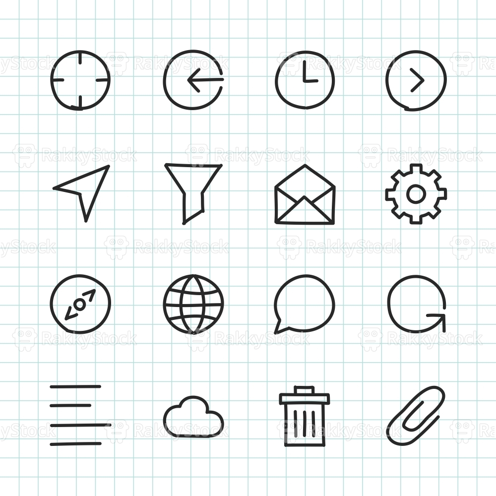 Basic Icon Set 2 - Hand Drawn Series