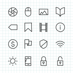 Basic Icon Set 3 - Hand Drawn Series