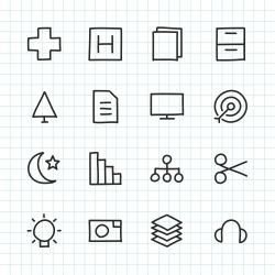 Basic Icon Set 4 - Hand Drawn Series