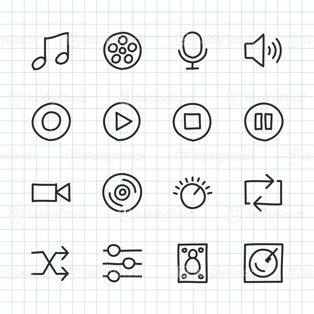 Basic Icon Set 5 - Hand Drawn Series
