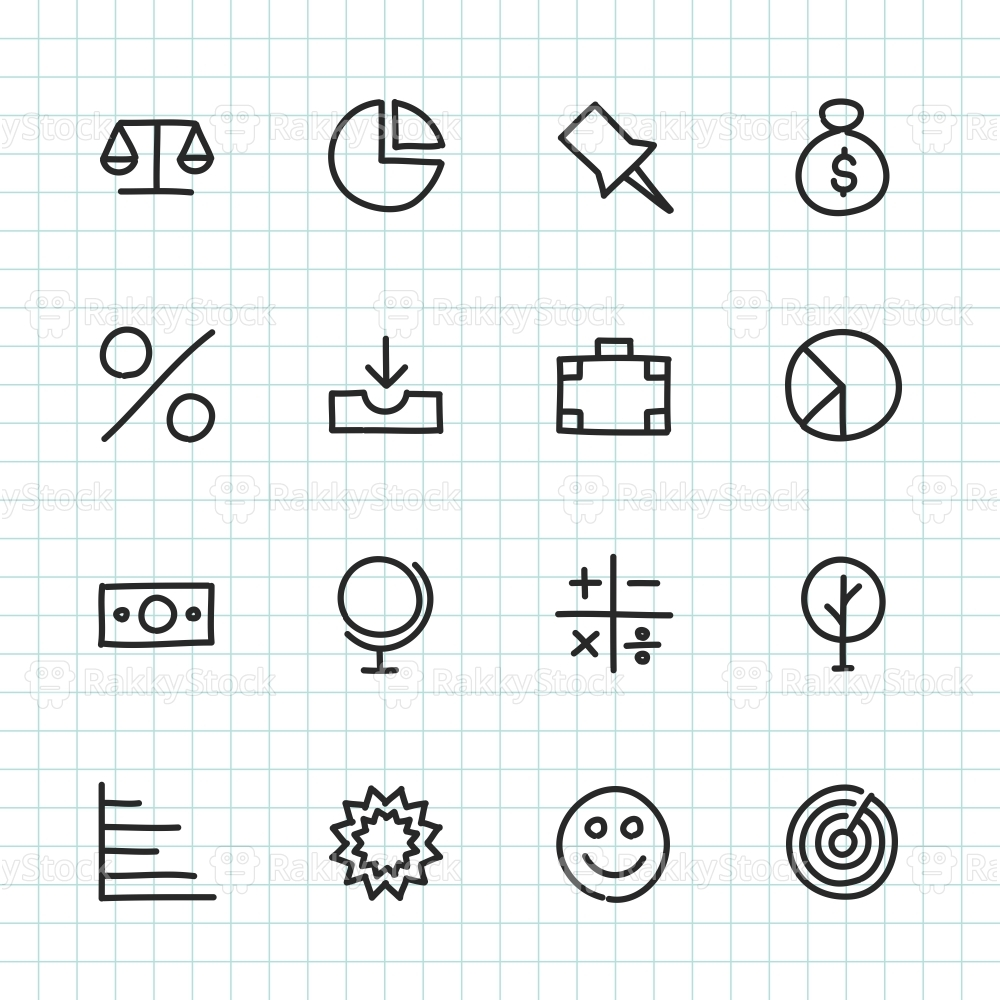 Basic Icon Set 6 - Hand Drawn Series