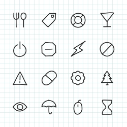 Basic Icon Set 7 - Hand Drawn Series