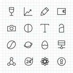 Basic Icon Set 10 - Hand Drawn Series