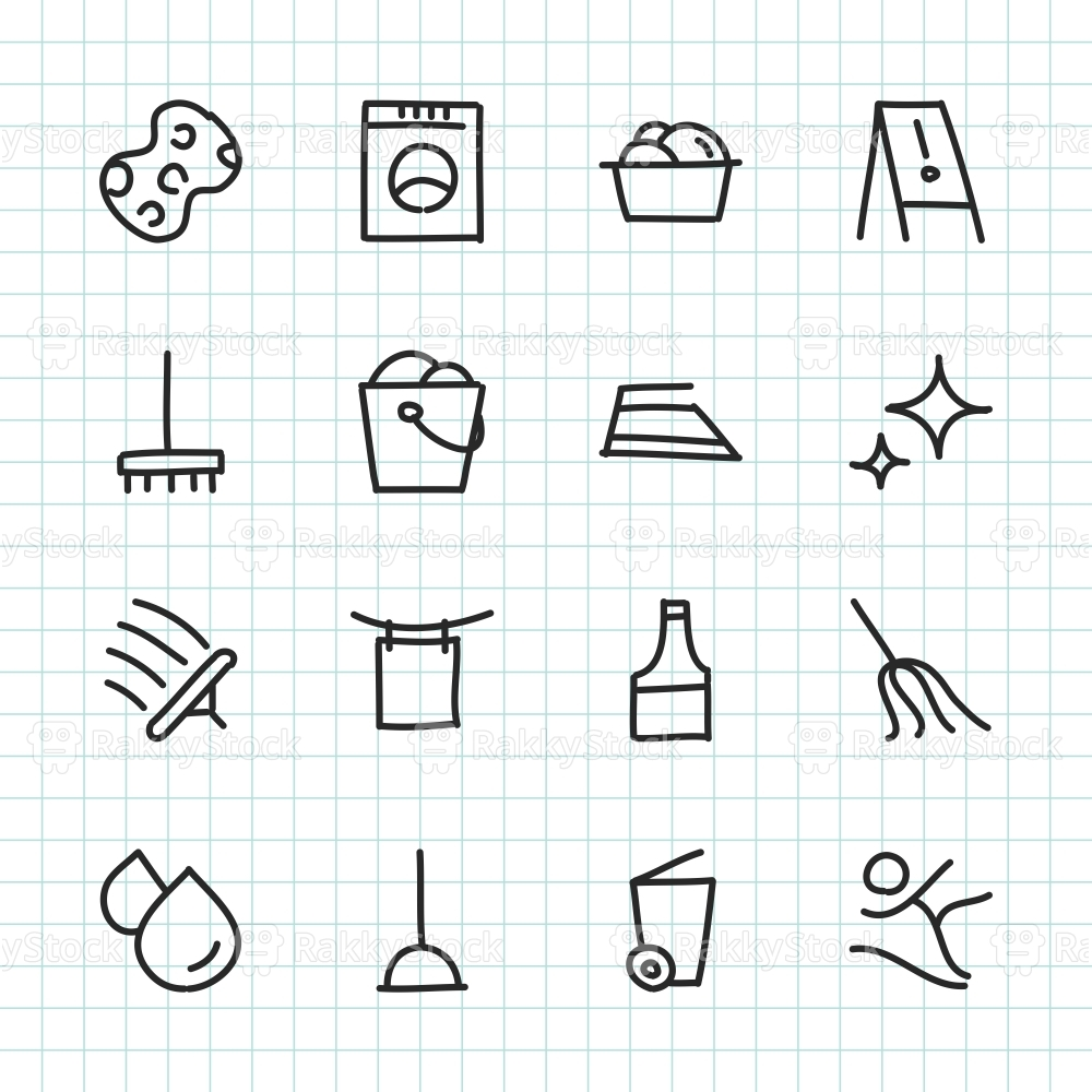 Cleaning Icon - Hand Drawn Series
