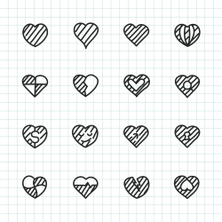 Heart Icon Set 2 - Hand Drawn Series