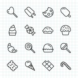 Dessert Icon - Hand Drawn Series