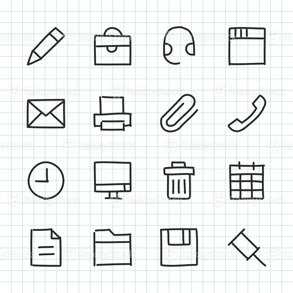 Office Icon - Hand Drawn Series