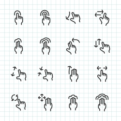 Gesture Icon - Hand Drawn Series