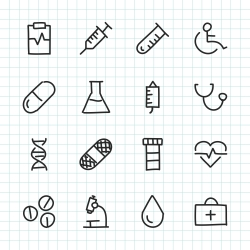 Medicine Icon - Hand Drawn Series