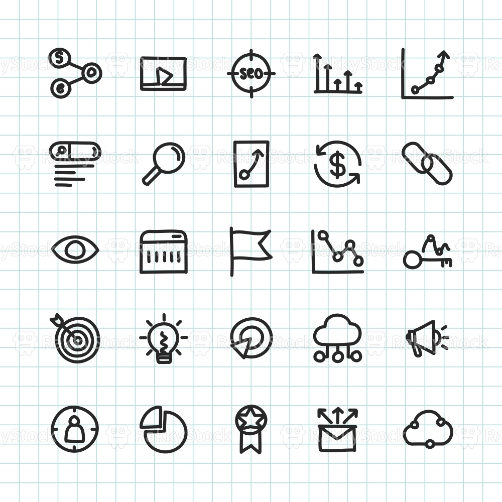 SEO Icon - Hand Drawn Series