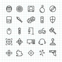 Gaming Icon - Hand Drawn Series