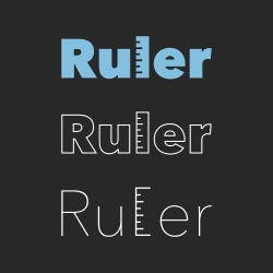 Ruler - Typography Series