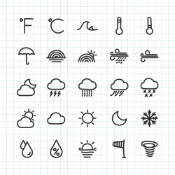 Weather Icons - Hand Drawn Series