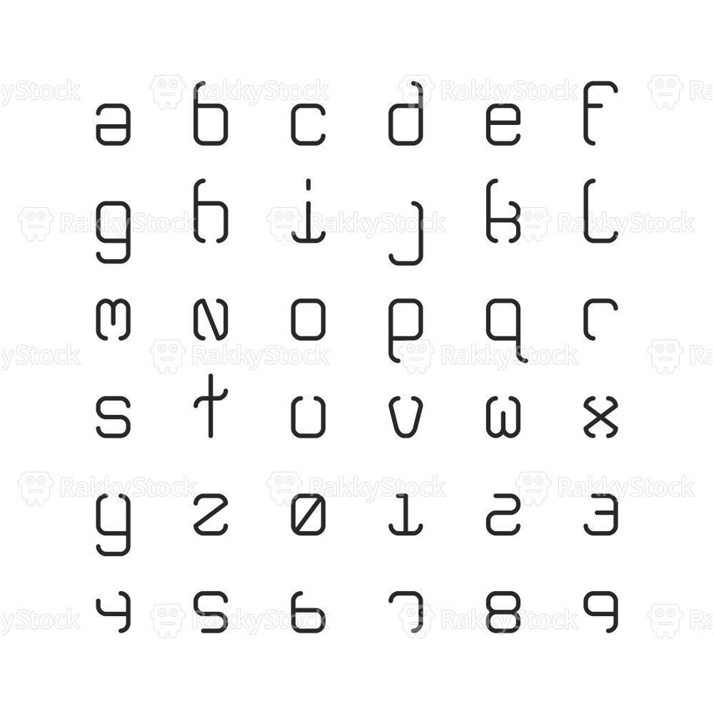 Lowercase Light Alphabet - Typography Series