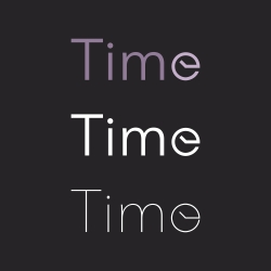 Time - Typography Series