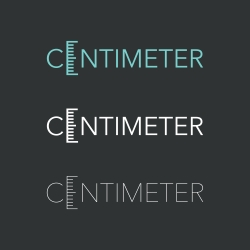 CENTIMETER - Typography Series