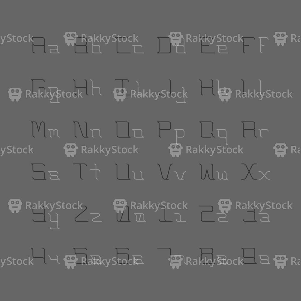 Light Lettering Set - Typography Series
