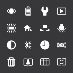 Camera Menu Icons Set 2 - White Series | EPS10