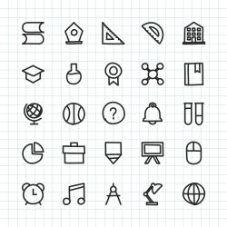 Education & School Icon - Hand Drawn Series